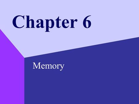 Chapter 6 Memory. Copyright © 1999 by The McGraw-Hill Companies, Inc. 2 The Nature of Memory Memory –the retention of information over time –Psychologists.