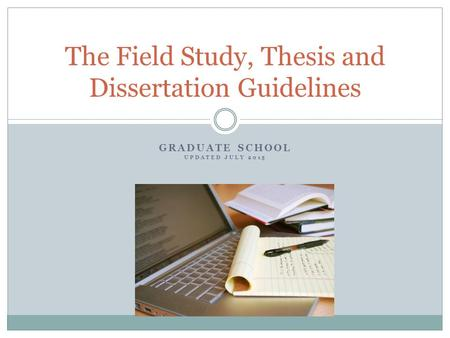 Graduate school thesis template