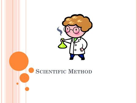 S CIENTIFIC M ETHOD. Step 1 of the Scientific Method is to __________.