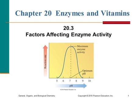 General, Organic, and Biological Chemistry Copyright © 2010 Pearson Education, Inc.1 Chapter 20 Enzymes and Vitamins 20.3 Factors Affecting Enzyme Activity.