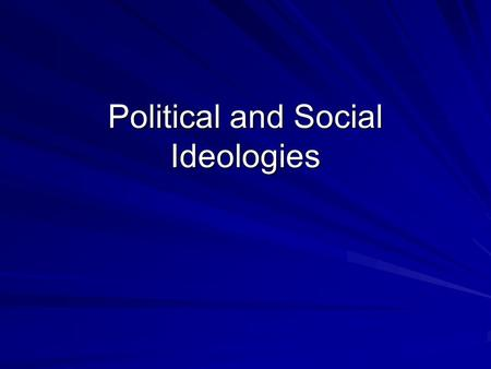 political idealogies essay The term 'ideology' was born in the highly controversial, philosophical and political debates and fights of the french revolution and acquired several other meanings from the early days of the first.