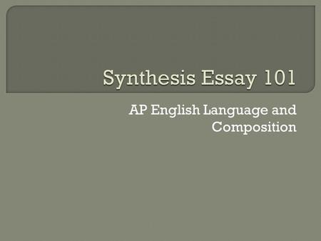 ap language and composition essay scale Buy this cliffsnotes book here each of the three ap english language and composition essays equals one-third of the total essay score, and the entire essay (free.