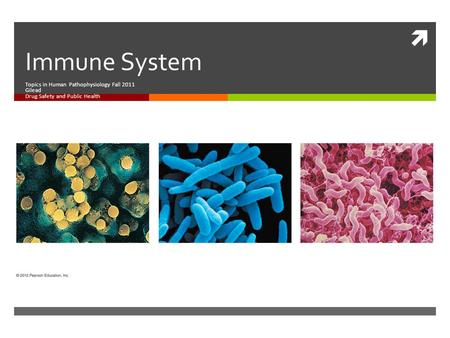  Immune System Topics in Human Pathophysiology Fall 2011 Gilead Drug Safety and Public Health.