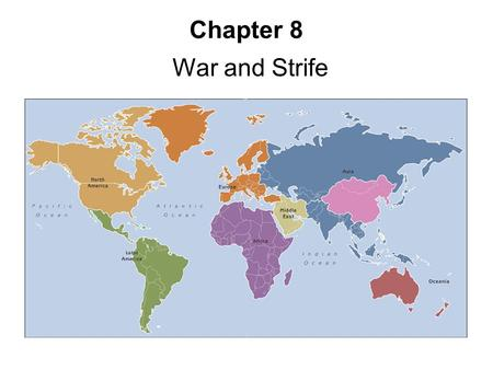 Chapter 8 War and Strife. Security Issues Global trends, see:   –Human security.