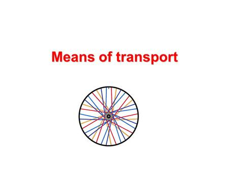 Means of transport. How can you move from one place to another? How can you move from one place to another? What kind of means of transport do you know?