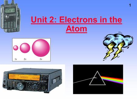 1 Unit 2: Electrons in the Atom. 2 The Beginnings of Quantum Mechanics Quantum mechanics forms the foundation of chemistry – explaining the periodic table.