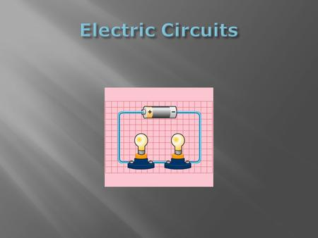 "Comes from Latin word that means, ""to go around."" A circuit is a path provided to allow electrons to flow. A circuit allows the energy from a power."