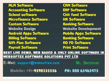 Websoftex Software Solutions Pvt. Ltd., a Bangalore based company, extending its services in Website Designing, Web Development, Websoftex.