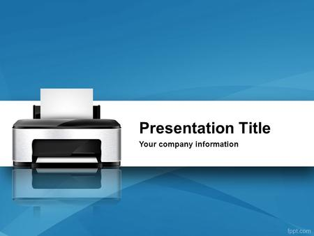 Presentation Title Your company information.