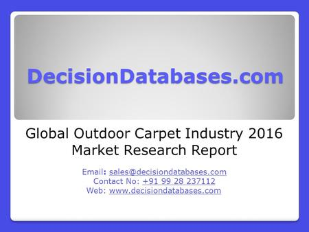 Global Outdoor Carpet Industry 2016 Market Research Report