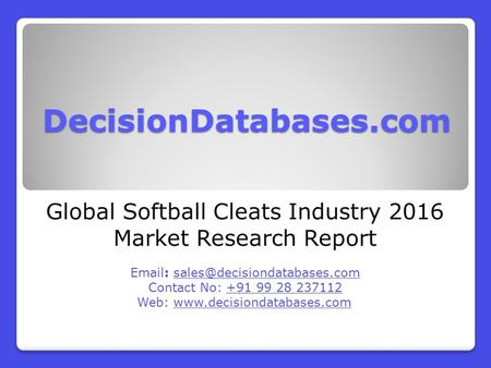 Global Softball Cleats Industry 2016 Market Research Report