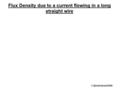 Flux Density due to a current flowing in a long straight wire © David Hoult 2009.