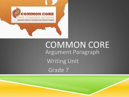 COMMON CORE Argument Paragraph Writing Unit Grade 7.