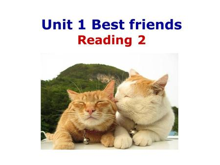 Unit 1 Best friends Reading 2. Who are my best friends? Betty Max May.