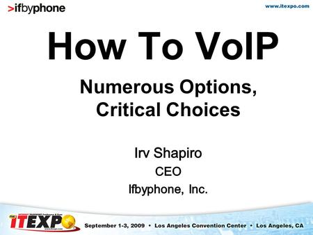 How To VoIP. ISPs entering the VoIP services arena face numerous choices in bringing a service offering to market. Among these, one of the most key decisions.