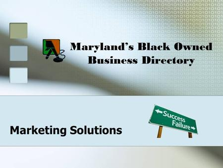 Maryland's Black Owned Business Directory Marketing Solutions.
