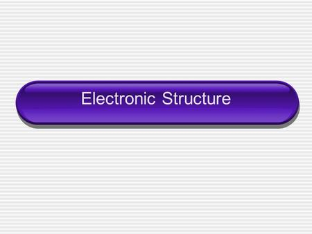 Electronic Structure. Wavelength ____________ (λ) - the shortest distance between equal points wave.