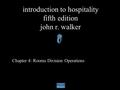 introduction to hospitality john walker pdf