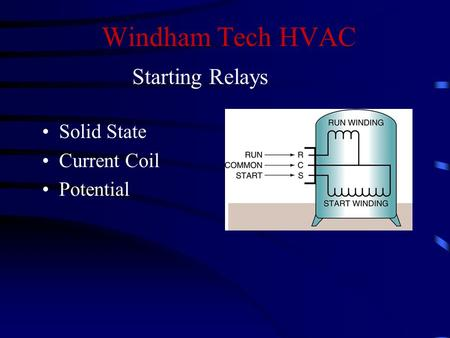 Windham Tech HVAC Solid State Current Coil Potential Starting Relays.