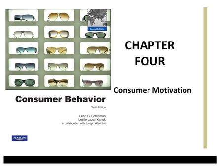 Consumer Motivation CHAPTER FOUR. Motivation as a Psychological Force Motivation is the driving force within individuals that impels them to action (behavior).