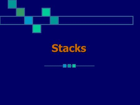 Stacks. An alternative storage structure for collections of entities is a stack. A stack is a simplified form of a linked list in which all insertions.