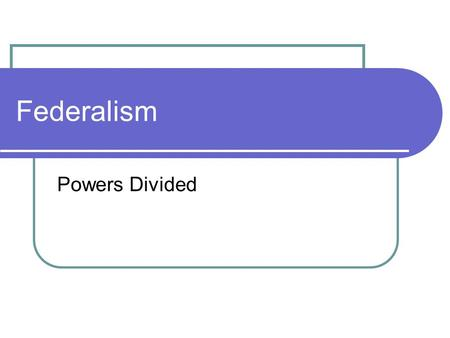 Federalism Powers Divided. How to preserve the states yet make a national government strong enough to do the job? 1. Government power inevitably threatens.