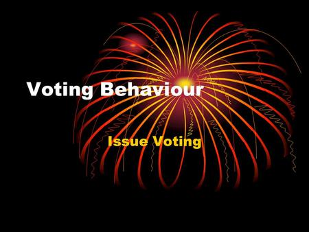 Voting Behaviour Issue Voting. Lesson Objectives I will get the opportunity to discuss which issues are the most important to me I will get the opportunity.