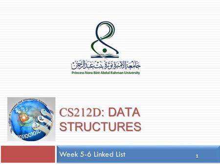 CS212D : DATA STRUCTURES 1 Week 5-6 Linked List. Outline 2  Singly Linked Lists  Doubly Linked Lists  Recursions.