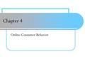 Chapter 4 Online Consumer Behavior. Buyer Decision Making Process 4-2.