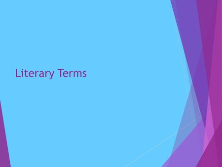 Literary Terms.  Fiction: A type of writing based on imagination.  Non-Fiction: A type of writing that is based on facts.