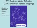 Einstein on Brownian Motion 1905 five important papers DTI Basics – Water Diffusion (DTI – Diffusion Tensor Imaging)