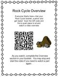 Rock Cycle Overview Everyone Starts Here—Get your Rock Cycle booklet, a pencil and get ready! Scan the QR code and find a quiet place to sit and watch.