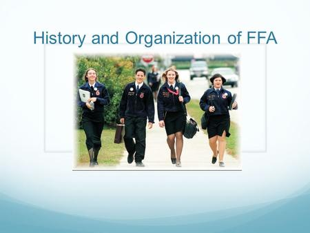 History and Organization of FFA. Question: What is the largest student youth organization in the United States, with nearly half a million members?