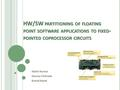 An introduction to the floating point coprocessors