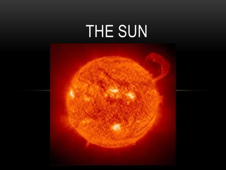 THE SUN. CLASSIFICATION OF THE SUN Class G Color Yellow Surface Temperature 5,000 – 6,000 ºC Elements hydrogen and helium Greek word for Sun is Helios.