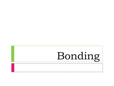 Bonding. Formulas  Chemical formulas Chemical formulas  Tell us what elements a compound contains and the exact number of the atoms of each element.