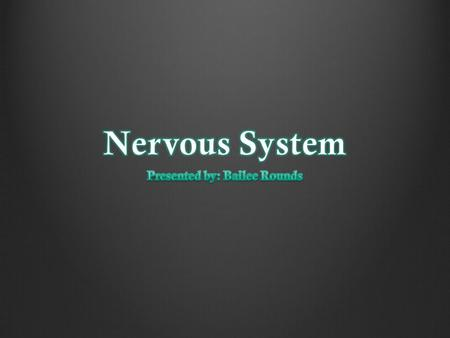 The nervous system is important because it is the system that coordinates every animals voluntary movements, such as walking and eating, and in voluntary.