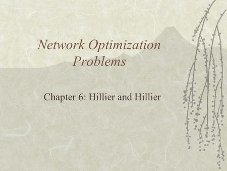 Network Optimization Problems