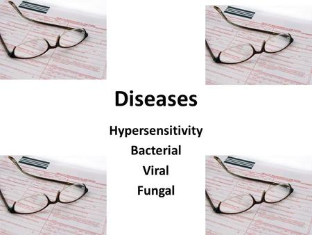 Diseases Hypersensitivity Bacterial Viral Fungal.