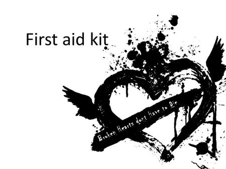 First aid kit. Is a collection of supplies and equipment for use in giving firts aid kit First aid kits may be made up of different contents depending.