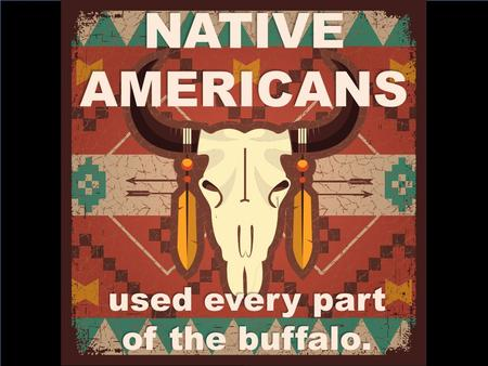 NATIVE AMERICANS used every part of the buffalo.
