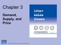 Copyright © 2008 Pearson Addison-Wesley. All rights reserved. Chapter 3 Demand, Supply, and Price.