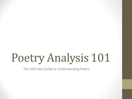 Poetry Analysis 101 The Ultimate Guide to Understanding Poetry.