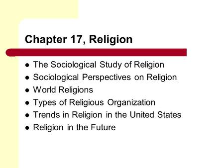 Sociology of Religion | American Sociological Association