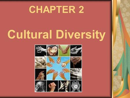 CHAPTER 2 Cultural Diversity. THE MEANING OF CULTURE culture is common to all societies humans change and adapt to their environment  foundation of culture.