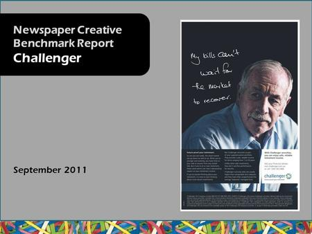September 2011 Newspaper Creative Benchmark Report Challenger.