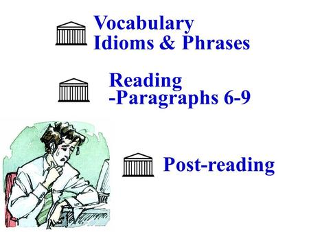 Vocabulary Idioms & Phrases Reading -Paragraphs 6-9 Post-reading.
