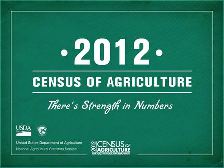 1. THERE'S HISTORY HERE The first Census of Agriculture was conducted in 1840 in 26 states and the District of Columbia.