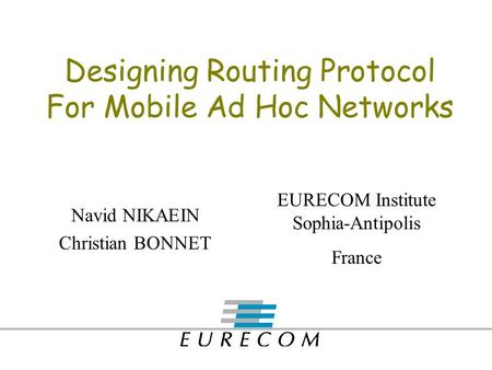 Multicast routing protocols for mobile ad hoc networks