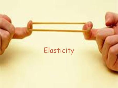 Elasticity. Price elasticity of demand Measures the responsiveness to a change in price; that is, will the quantity demanded change if the price of the.